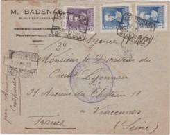 Lettre España - Poste Aérienne - Certificado - Cachet BARCELONA & SALAMANCA 1939 -visa De La Censure - Badenas Bijoutier - 1931-Aujourd'hui: II. République - ....Juan Carlos I