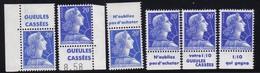 PUBLICITE: MARIANNE DE MULLER 20F BLEU GUEULES CASSEES X6 ACCP 1334/1335/1336/1337/1339/1341** - Advertising