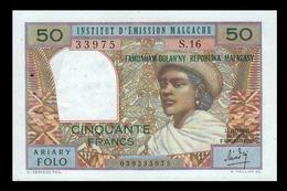 # # # Banknote Madagaskar (Madagascar) 50 Ariary Folo UNC- # # # - Madagaskar