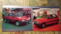 OLD Car Citroën / Citroen - Model AX And VISA - OLD CARD - Turismo