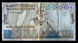 # # # Banknoten Madagaskar (Madagascar) 5.000 Francs # # # - Madagaskar