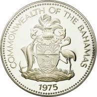Monnaie, Bahamas, Elizabeth II, 5 Dollars, 1975, Franklin Mint, U.S.A., SUP+ - Bahamas