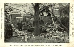 OUDE TRAM - 's Gravenhage - Spoorwegongeluk 18 Januari 1902 - Trenes