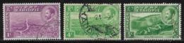 Ethiopia Scott # 285,287-8 Used Various Subjects, 1947 - Ethiopia