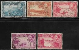 Ethiopia Scott # 291-294 Used Various Subjects, 1947-53 - Ethiopia