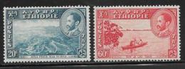 Ethiopia Scott # 291, 292A Mint Hinged Alba, Canoe On Lake, 1947-51 - Ethiopia