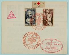 Depliant 1950 Exposition La Croix Rouge Et La Poste, 1er Jour D'emission - Voir Les Images - France