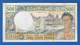 France  Doutre  Mer  500  Fr    L.016 - Territoires Français Du Pacifique (1992-...)