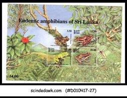 SRI LANKA - 2001 Endemic Amphibians / FROG - Miniature Sheet MINT NH - Sri Lanka (Ceylon) (1948-...)