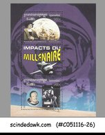 CAMBODIA 2001 Millenium Goals / COLUMBUS ARRIVAL / MOON LANDING / SPACE M/S MNH - Raumfahrt