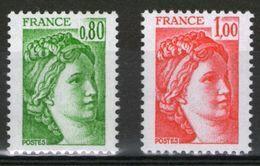N° 1970c** Et 1972c**_GT Sans Bandes Phospho_(V712) - 1977-81 Sabine De Gandon