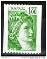 N° 1981Aa**_numéro Rouge Sur Gomme_roulette_(stk) - 1977-81 Sabine Of Gandon