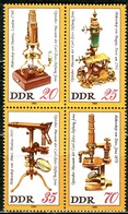 DDR - Mi 2534 / 2537 Zdr - ** Postfrisch (B) - Optisches Museum Der Carl-Zeiss-Stiftung Jena - Ongebruikt