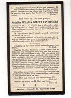 Pelagie Taverniers °1897 OLV Tielt + 22/4/1915 Onze Lieve Vrouw Tielt Druk Tuerlinckx-Boeyé Aarschot - Décès