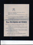 Petrus Augustinus Taverniers °1893 OLV Tielt + 14/8/1916 Onze Lieve Vrouw Tielt Druk Tuerlinckx-Boeyé Aarschot VRANCKX - Décès