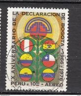 ##9, Pérou, Peru, Déclaration De Bogota, Drapeau, Flag, Airmail - Peru