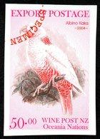 New  Zealand Wine Post Albino Kaka Imperf Specimen Over Print - Unclassified