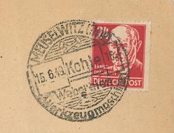 Ernst Thälmann Meuselwitz Kohle Webereien Werkzeugmaschinen Brief 15.6.1949 - Zone Soviétique