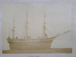 Grande Albumine Par A. Grumeau , Actif à Cherbourg Et Carentan . Cavalcade De 1868 .  Char En Forme De Voilier . Marins - Photos