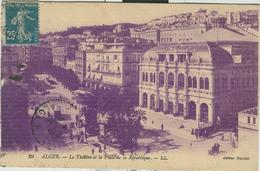 ALGER - Le Théâtre Et La Place De La République,B/N, - Algeri