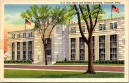 Iowa Dubuque Post Office And Federal Building 1951 Curteich - Dubuque