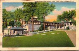 Iowa Dubuque Eagle Point Park Promenade Bridge Room 1950 Curteich - Dubuque