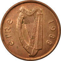 Monnaie, IRELAND REPUBLIC, 2 Pence, 1988, TTB, Copper Plated Steel, KM:21a - Irlande