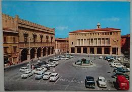 PESARO - PIAZZA DEL POPOLO - Auto Cars Fiat Mercedes Furgoni Alemagna Uranya  Nv - Pesaro