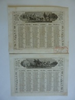 ALMANACH 1857 CALENDRIER  2 SEMESTRIELS   Allégorie Transport  Attelages  Edit Dubois Trianon - Calendars