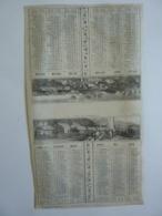 ALMANACH 1870  CALENDRIER SEMESTRIEL  NON DECOUPE  Allégorie  Paysage Et Vue De Normandie  Imprimeur Mayoux Et Hon0ré - Calendars