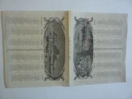 ALMANACH 1870  CALENDRIER SEMESTRIEL  NON DECOUPE  Allégorie  Marine  Imprimeur Mayoux Et Hon0ré - Calendriers