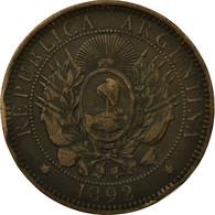 Monnaie, Argentine, 2 Centavos, 1892, TB+, Bronze, KM:33 - Argentine