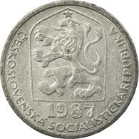 Monnaie, Tchécoslovaquie, 10 Haleru, 1987, TTB, Aluminium, KM:80 - Tchécoslovaquie