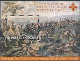 VATICANO - FOGLIETTO - BF - 2012 Battaglia Ponte Milvio - Emissione Congiunta Con Italia - MNH - Vaticano