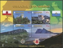 GIBILTERRA - GIBRALTAR - FOGLIETTO - BF - 2010 - Emissione Congiunta Con San Marino - MNH - Gibilterra