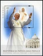 POLONIA - FOGLIETTO - BF - 2011 - Emissione Congiunta Con Città Del Vaticano - MNH - Blocks & Kleinbögen