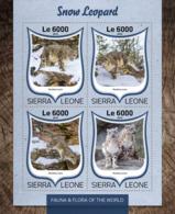 Sierra Leone 2016 Fauna  Snow Leopard - Sierra Leone (1961-...)