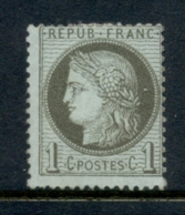 France 1870-73 Ceres 1c , Paper Adhesion MNG - France