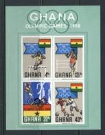 Ghana 1968 Summer Olympics Mexico City MS MUH - Ghana (1957-...)