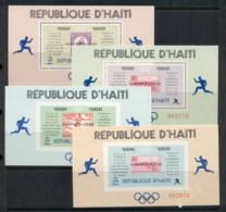 Haiti 1969 Olympic Games Locations & Winners 4x MS Perf & IMPERF MUH - Haiti