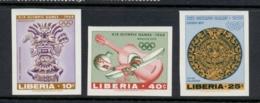 Liberia 1967 Summer Olympics Mexico City IMPERF MUH - Liberia