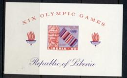 Liberia 1967 Summer Olympics Mexico City MS IMPERF MUH - Liberia