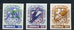 Liberia 1967 Winter Olympics Grenoble IMPERF MUH - Liberia