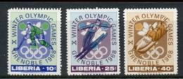 Liberia 1967 Winter Olympics Grenoble MUH - Liberia