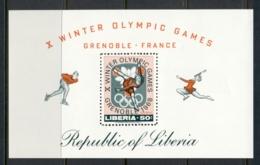 Liberia 1967 Winter Olympics Grenoble MS MUH - Liberia