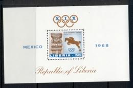 Liberia 1968 Summer Olympics Mexico City MS MUH - Liberia