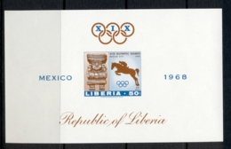 Liberia 1968 Summer Olympics Mexico City MS IMPERF MUH - Liberia
