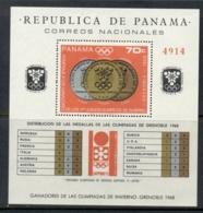 Panama 1968 Winter Olympics Grenoble Medallists MS MUH - Panama