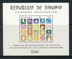 Panama 1968 Summer Olympics Mexico City Art MS MUH - Panama
