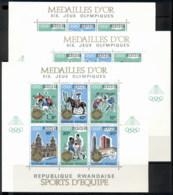 Rwanda 1968 Summer Olympics Mexico City 3xMS Opt Winners MUH - Rwanda